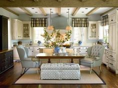 I wouldn't choose blues but sure would choose this as my kitchen/dining