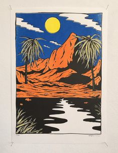 Floor van het Nederend - Only a few Red Mountains L.A. prints left. 2016, 29,7 x 42 cm risoprint, signed and numbered. Edition of 20. Only 25,- euro. Can be picked up in Amsterdam (NL shipping: + 5,-)