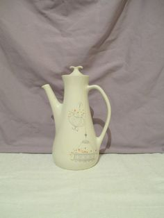 Iroquois Jardinieres Coffee Pot, Ben Seibel Teapot, Iroquois Impromptu Coffee Server, MCM Coffee Pot, 1950's China  , Mid Century Modern by LuckyPennyTrading on Etsy