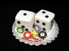 Dice and poker chip cake #gambling #lasvegascake