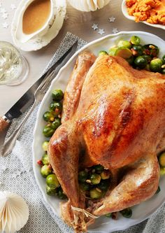 Saftig helstekt kalkun til festen Turkey, Meat, Happy, Wedding, Food, Valentines Day Weddings, Turkey Country, Essen, Ser Feliz