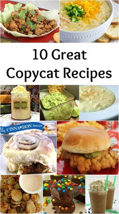 10 Great Copycat Rec