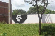 Jimi Hendrix street art - perfect!