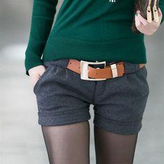 Зимние женские брюки из шерсти
