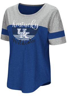 9ad21c81266 Colosseum Kentucky Wildcats Womens Blue Goofy Foot Short Sleeve T-Shirt -  15038237