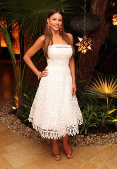 Sofia Vergara wore Oscar de la Renta at her birthday celebration in Cozumel, Mexico.