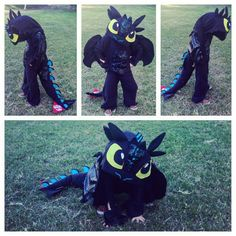 Homemade Halloween kids group costume :: How to Train Your Dragon 2 :: httyd2 :: hiccup :: astrid :: toothless :: stormfly