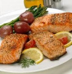 - salmon 1 teaspoon - salt 1 teaspoon - black pepper teaspoon - thyme 3 tablespoons - butter 1 cup light cream 3 - onions, sliced 3 - parsley sprigs 1 - garlic clove, quartered 1 - bay leaf 2 - cucumbers (peeled and cut into strips) Salmon Recipes, Fish Recipes, Seafood Recipes, Cooking Recipes, Healthy Recipes, Pepper Recipes, Entree Recipes, Cat Recipes, Diabetic Recipes