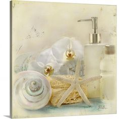 Patricia Pinto Solid-Faced Canvas Print Wall Art Print entitled Silver Bath II, None Abstract Canvas, Abstract Print, Canvas Wall Art, Canvas Prints, Big Canvas, Bathroom Artwork, Bathroom Prints, Bathroom Wallpaper, Framed Art