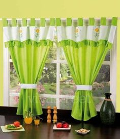 Kitchen Curtains - The Heart of Your Kitchen - Life ideas Cute Curtains, Curtains And Draperies, Tab Top Curtains, Crochet Curtains, Beautiful Curtains, Curtain Styles, Big Bathrooms, Kitchen Curtains, Window Coverings