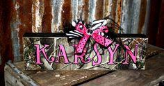 Personalized Camo Rustic Name Plates Block Home by PeaceGlitznGlam Camo Nursery, Girl Nursery, Baby Needs, Baby Love, Camo Baby Stuff, Baby Kids Clothes, Baby Girl Names, Future Baby, Baby Gifts