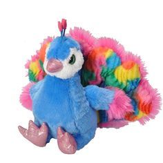 "Wild Republic ""Sweet and Sassy"" plush peacock"