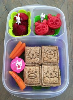 Happy Animal Faces Bento