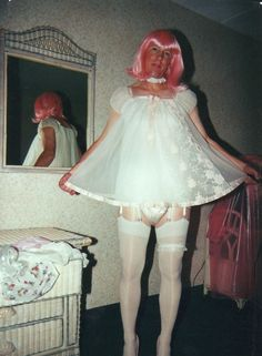 that's a sexy dress on that sissy! #phoneamommy #callamommy #abdl