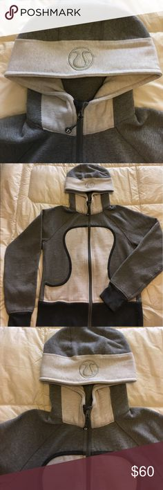 Lululemon Scuba hoodie Lululemon scuba hoodie. This is an older version, however it has only been worn a few times! Condition is like new! Grey and white jacket, size 8. There is no pilling, rips or stains. lululemon athletica Jackets & Coats