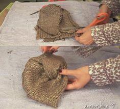 Tutorial para hacer un turbante y un gorro de lana con un jersey