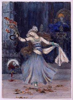 Gustave Moreau (francés, 1826-1898). Baile de Salome antes de la Cabeza de San Juan Bautista, de mediados a finales del siglo 19. El Museo Metropolitano de Arte, Nueva York.