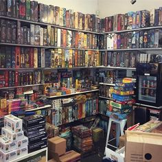 This tiny shop in Melbourne is choc-a-block, floor to ceiling, wall to wall, front to back filled with so many games!
