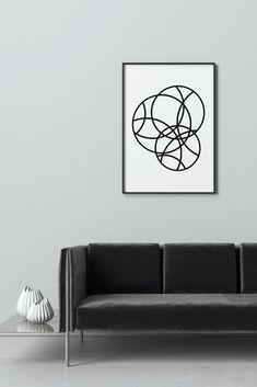 Minimalist geometric print by Fluorama.