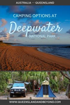 Deepwater National Park is a lovely spot on the Discovery Coast in Queensland if you want to do a bit of 4WD exploring. The Wreck Rock camping area in Deepwater is small and doesn't get too crowded. Here's what to expect. 🌐 Queensland & Beyond #camping #queensland #australia #tips