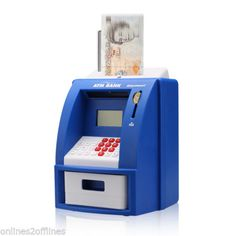 Digital #piggy bank atm cash card machine coin note #counter #saving money box gi,  View more on the LINK: http://www.zeppy.io/product/gb/2/291645174971/