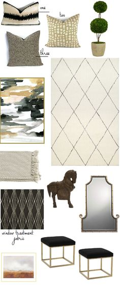 Pattern mixing have you stumped? Neutral home decor accessories that all work together.