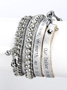 Silver,metal Amen Charm Leather with Message Wrap Bracelet Letter Engraved Pearl Accent Materials Leatherette Length 32 Inch Unknown http://www.amazon.com/dp/B00KXB3K30/ref=cm_sw_r_pi_dp_dwMLvb0JR0KVF