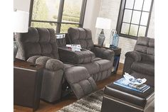 Slate Acieona Reclining Sofa with Drop Down Table View 1 Furniture, At Home Furniture Store, Home, Reclining Sofa, Ashley Furniture, Sofa, Drop Down Table, Sectional, Lounge