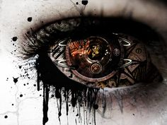 A gear in my eye via wild-kard2003.deviantart.com #steampunk fantasies