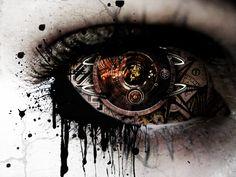 A gear in my eye via wild-kard2003.deviantart.com #steampunk fantasies