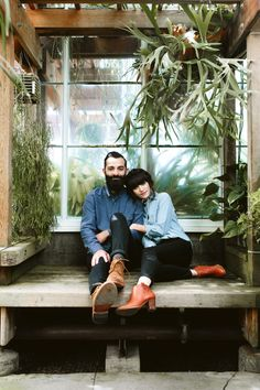 New Darlings - Couples Photography - Seattle Greenhouse
