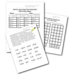 includes the following assessments to correlate with the Common Core Standards for first grade (RF1.2a, RF1.2b, RF1.2c, RF1.2d, & RF1.3a):  •short vowel/long vowel discrimination   •letter naming assessment   •letter sound assessment  (includes blends & digraphs)   •pseudoword (nonsense word) assessment   •initial, medial, & final sound assessment   •sound separation assessment