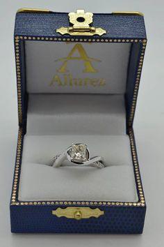 Diamond Bypass Engagement Ring Setting in 14k White Gold (0.13ct) - Allurez.com