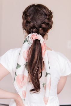 Cute Hairstyles For Teens, Cute Hairstyles For Medium Hair, Cool Braid Hairstyles, Teen Hairstyles, Braids For Short Hair, Scarf Hairstyles, Medium Hair Styles, Curly Hair Styles, Hairstyles Games