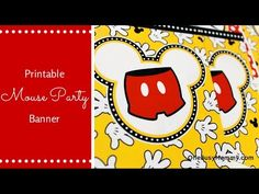 Free Printable Mickey Mouse Banner - OneBusyMommy.com