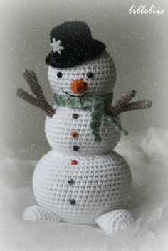 Snowman - my 1st Advent crochet project