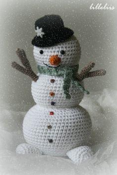 Snowman - my 1st Advent crochet project
