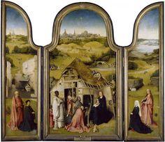 Adoración de los Reyes Magos. Hacia 1495. Hieronymus Bosch, El Bosco. Museo del Prado. Galería en línea.