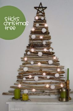 . . . . . How to Recycle: Recycled Wall Christmas Trees