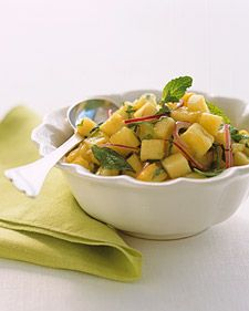 Spicy Pineapple-Mint Salsa. Serve with grilled pork or fish, such as red snapper or striped bass.