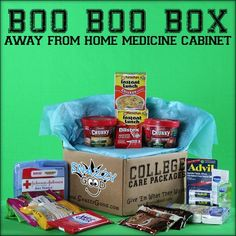 Snazzy Good College Care Package Boo Boo Box ...also a great graduation gift FOR college