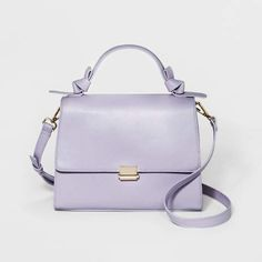 eb6b6d6857 A New Day Knotted Top Handle Satchel Handbag in lilac at Target