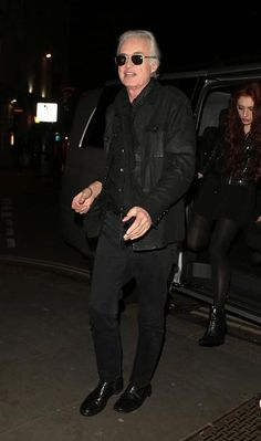 Jimmy Page arriving at the after party from the Brit awards with his girlfriend Scarlett | 24 Feb 2015