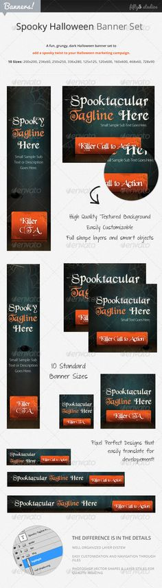Spooky, Fun Halloween Banner Set - Nicole Pribicevic, fifty5_studios