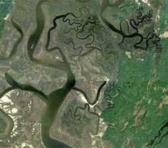 Rivers in Savannah, Georgia, USA