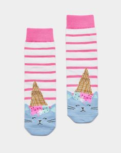 Another great find on Pink & White Cat Ice Cream Neat-Feat Socks - Girls Joules Girls, Joules Uk, Head Sock, Cat Ice Cream, Bamboo Socks, Girls Socks, Women Socks, Country Attire, Socks