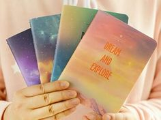 Fantastic Galaxy Star Sky A6 Notebook Diary Book Exercise Composition Notepad Escolar Papelaria Gift Stationery