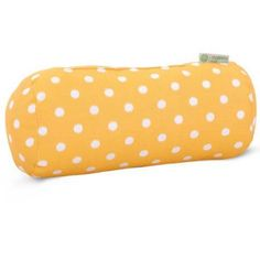 Majestic Home Goods Ikat Dot Round Bolster Decorative Pillow, 18.5 inch x 8 inch, Indoor/Outdoor, Yellow