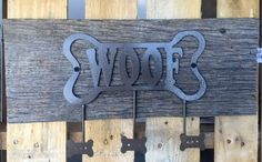 Woof Dog Hooks on Reclaimed Wood by WeAreDesignEvolution on Etsy