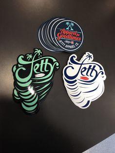 Jetty Life Stickers - Coastal Sign & Design, LLC #jettylife #stickers #coastalsign